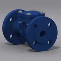 3d max valve check modeled