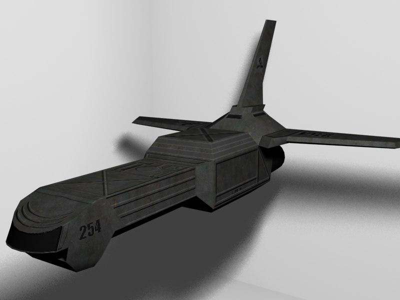 sci-fi transport ship max free