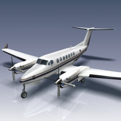 3d ma beech king air 350
