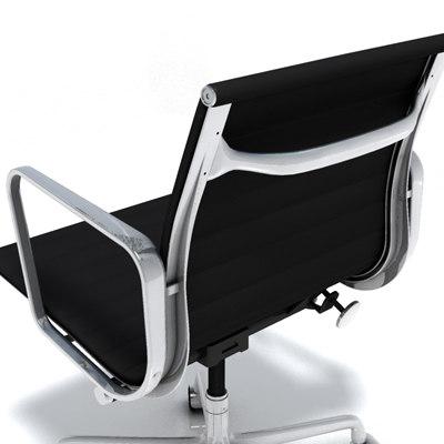 eames aluminum managment chair 3d max