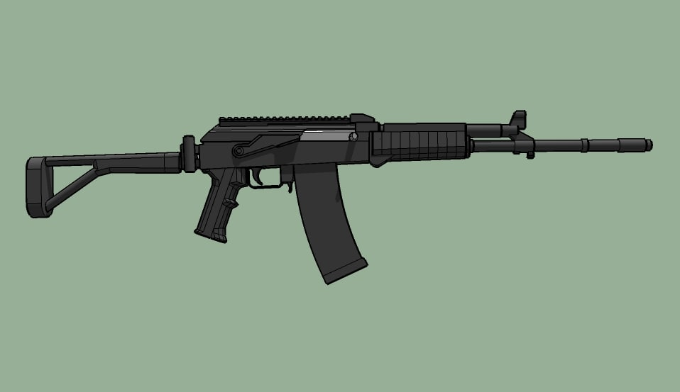 m21 assault rifle 3d model