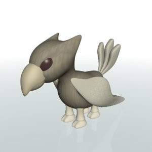 free animal character 3d model
