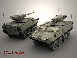 3d openflight army stryker mgs model
