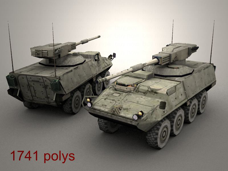 3d openflight army stryker mgs model