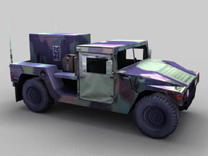 3d model openflight military hummer generator