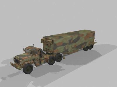 3d model military transport