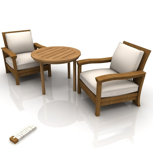 mendocino chairs 3d model