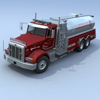 3d model of truck firetruck pumper