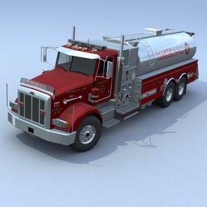 3d model of truck firetruck pumper