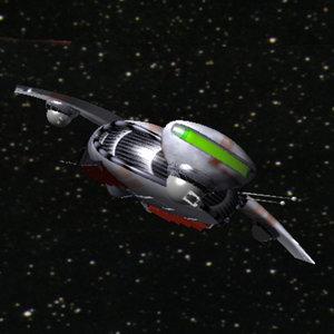 alien dropship spaceship 3d model