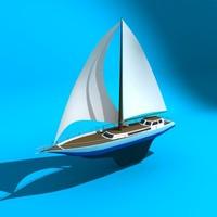 sail boat 3d model