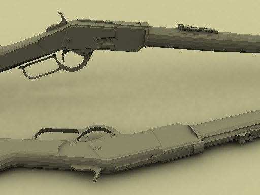 3d model 1876 winchester rifle