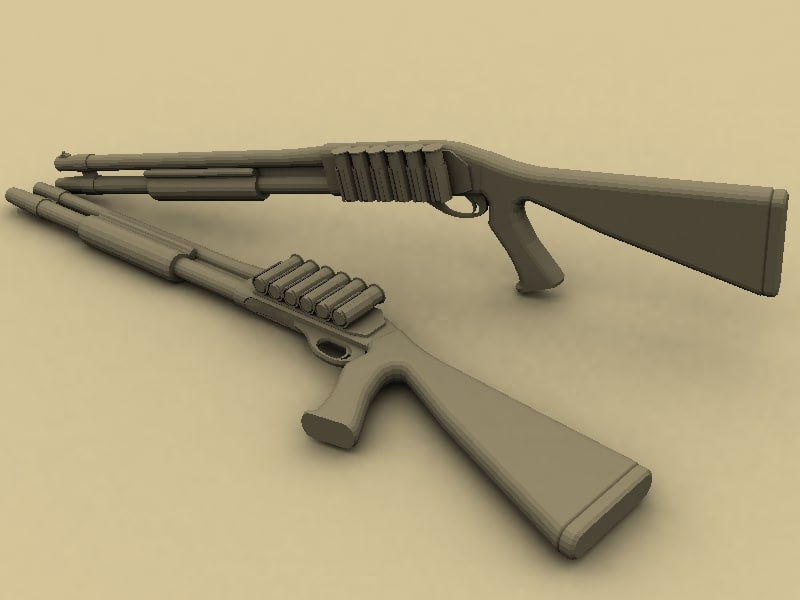 remington 870 shotgun 3d model
