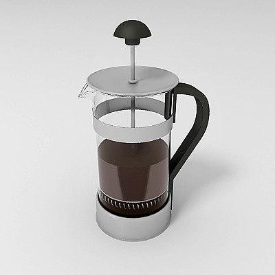 3d model kaffe coffee maker