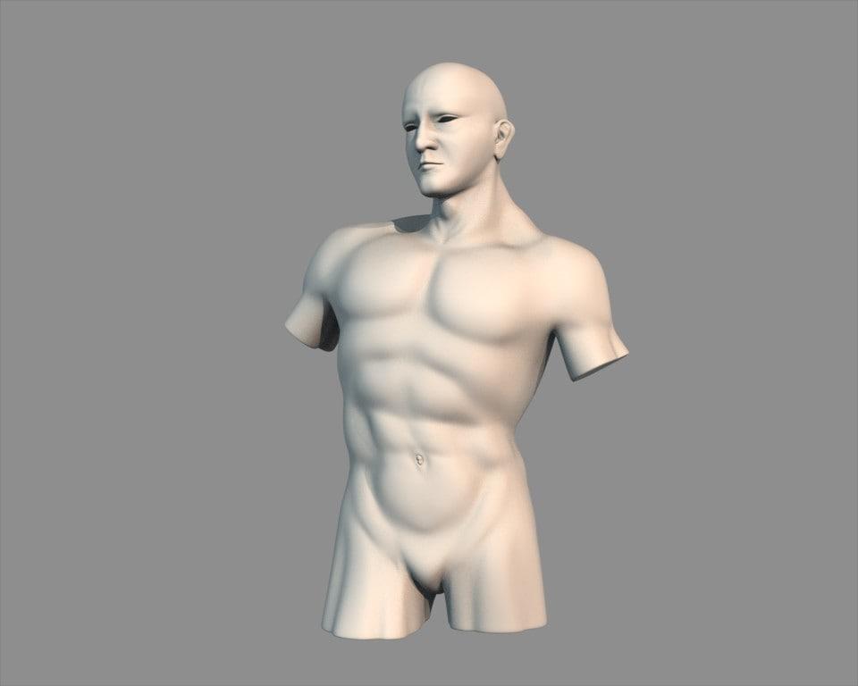 sculpture man 3d model