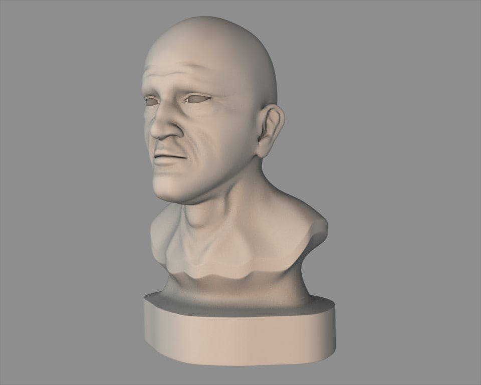 middle-aged head 3d model