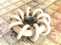 helixtorus spiral 3d model