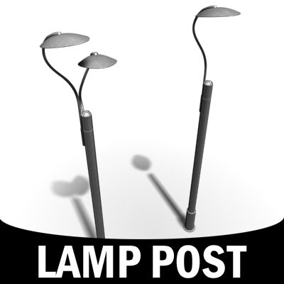 3d model street lamp post