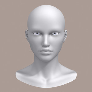 3d polygonal female head