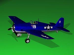 3d model hellcat airplane