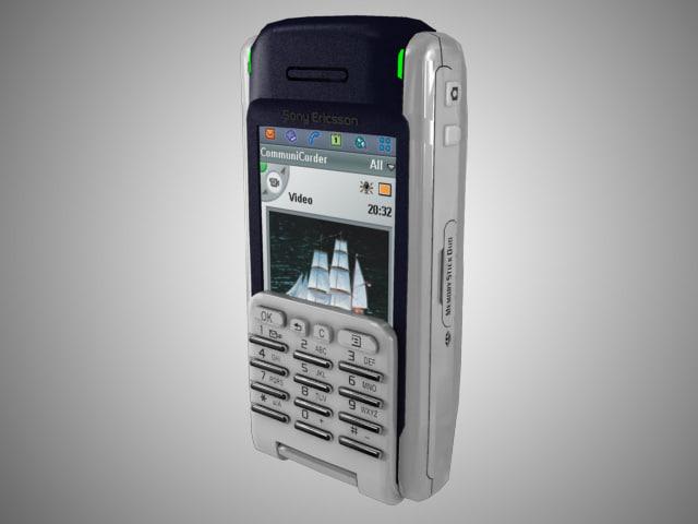 sony ericsson p900 cellphone 3d max