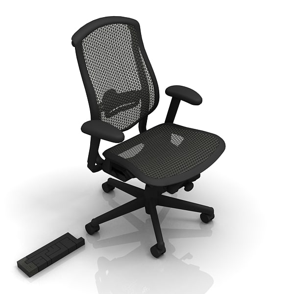 3d max herman miller cella office chair