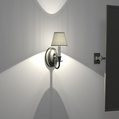 traditional sconce 3d model