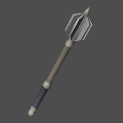 3d model mace weapon acc
