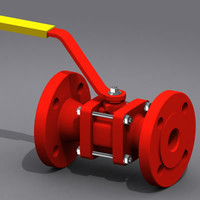 ball valves cup retainers 3d model