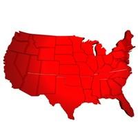 states 3d model