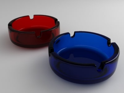 ashtray materials standart 3d 3ds