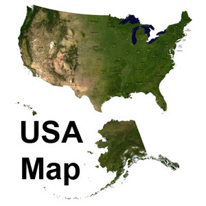 topographic united states 3d model