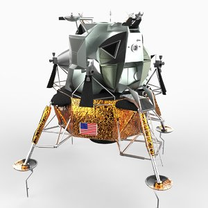 apollo lunar module lander 3d model