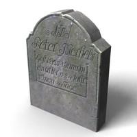 gravestone grave stone 3d model