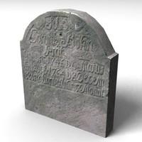 3d model gravestone grave stone