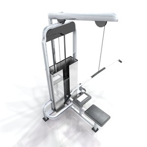 weight benches training 3d max