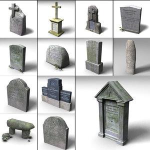3d gravestone grave stone