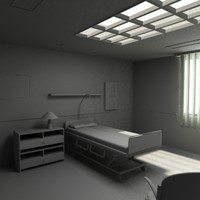 3ds max hospital bed room
