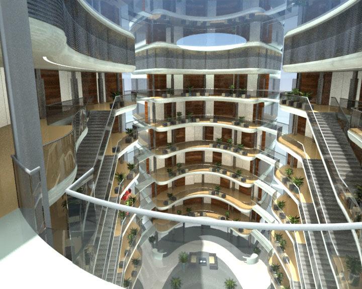 3dsmax contemporary exterior building