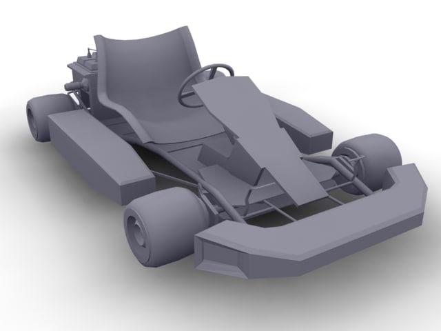 Gokart Kart 3d Model