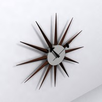 sunburst clock 3d obj