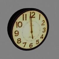 wall clock 3d x