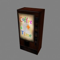 old coffee vending machine 3d max