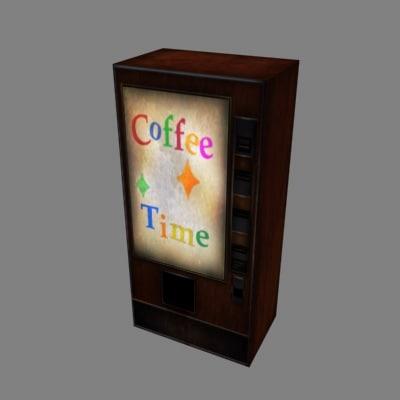 old coffee vending machine 3d max