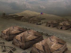 free max model military camp