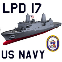US Navy LPD-17 San Antonio Class Amphibious Transport Dock Ship C4D