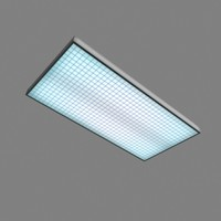 flourescent ceiling light 3d model