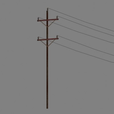 telephone power pole 3d 3ds