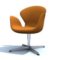 swan chair 3d max