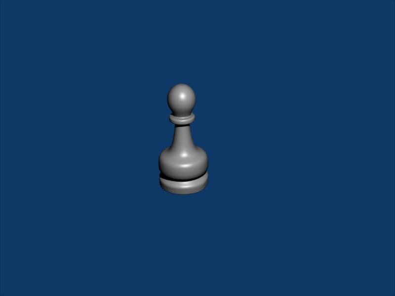 pawn chess piece 3d model